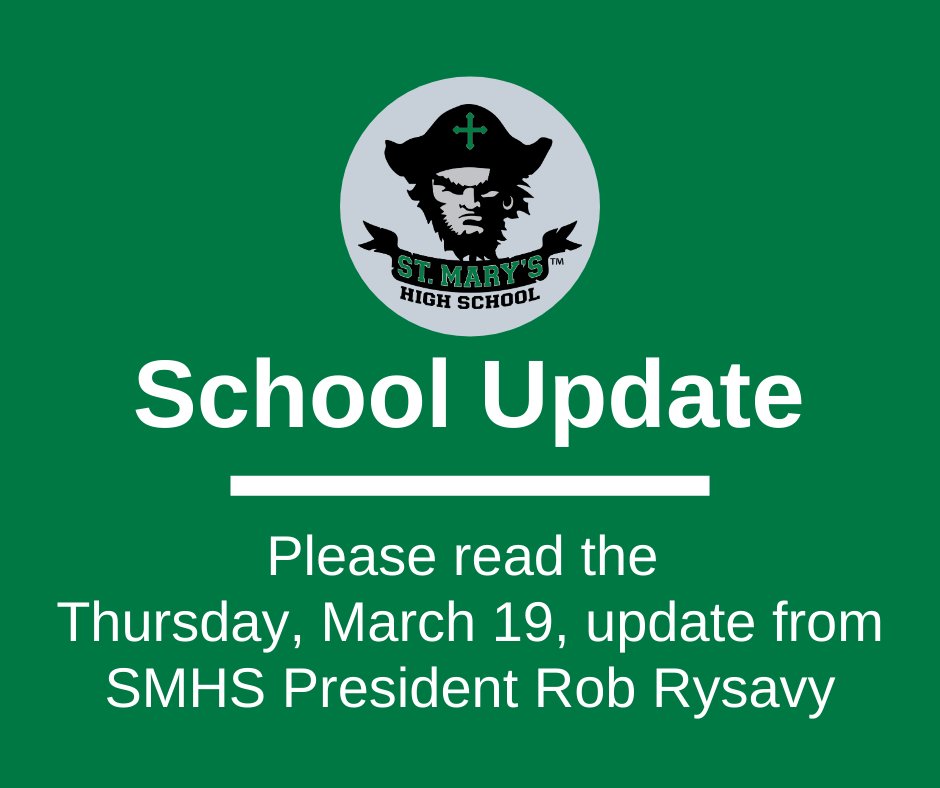 School UPDATE: Thursday, March 19