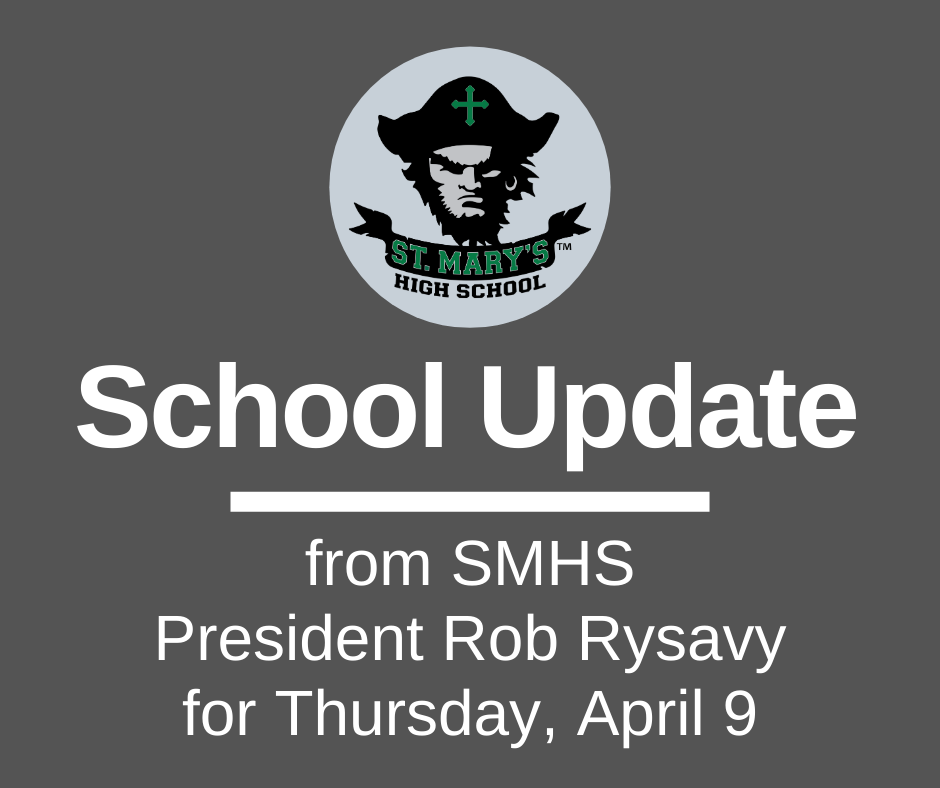 School UPDATE: Thursday, April 9