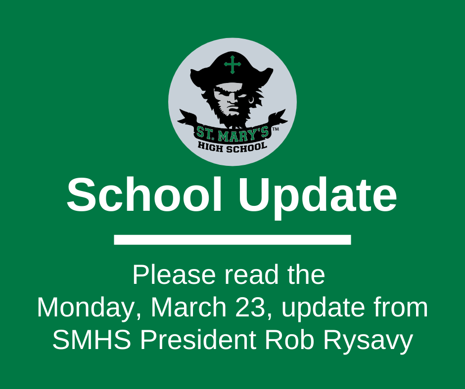 School UPDATE: Monday, March 23