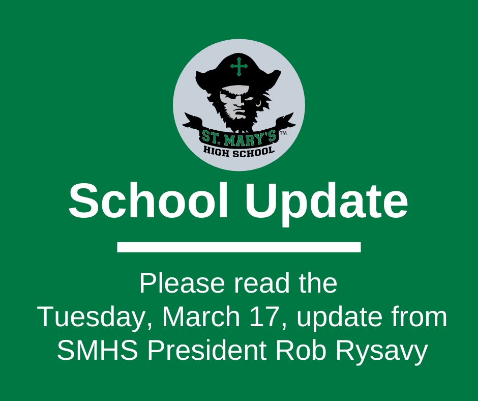 School UPDATE: Tuesday, March 17