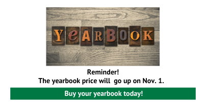 Yearbook Prices Go Up Nov. 1