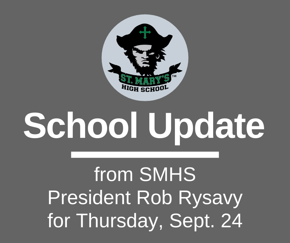 School UPDATE: Thursday, Sept. 24,  FULLY IN-PERSON OCT. 5