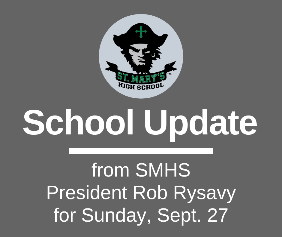 School UPDATE: Sunday, Sept. 27