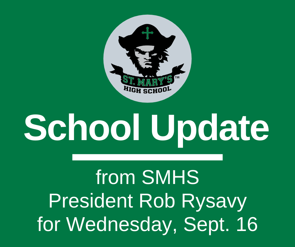 School UPDATE: Wednesday, Sept. 16