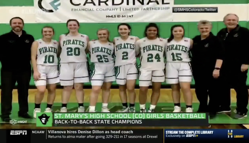 Girls Basketball Team Featured in ESPN's Senior Night Segment