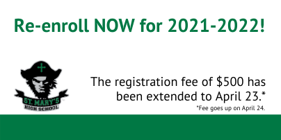 1st Re-enrollment Deadline Extended