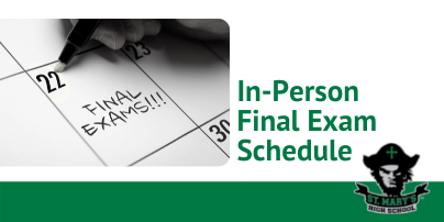 In-Person Final Exam Schedule