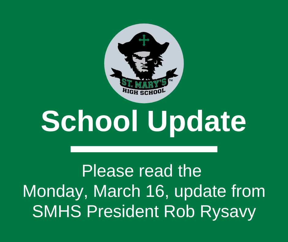 School UPDATE: Monday, March 16