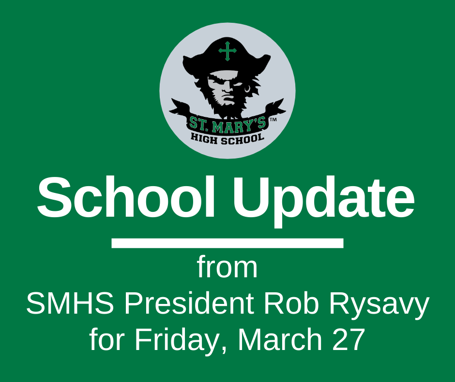 School UPDATE: Friday, March 27