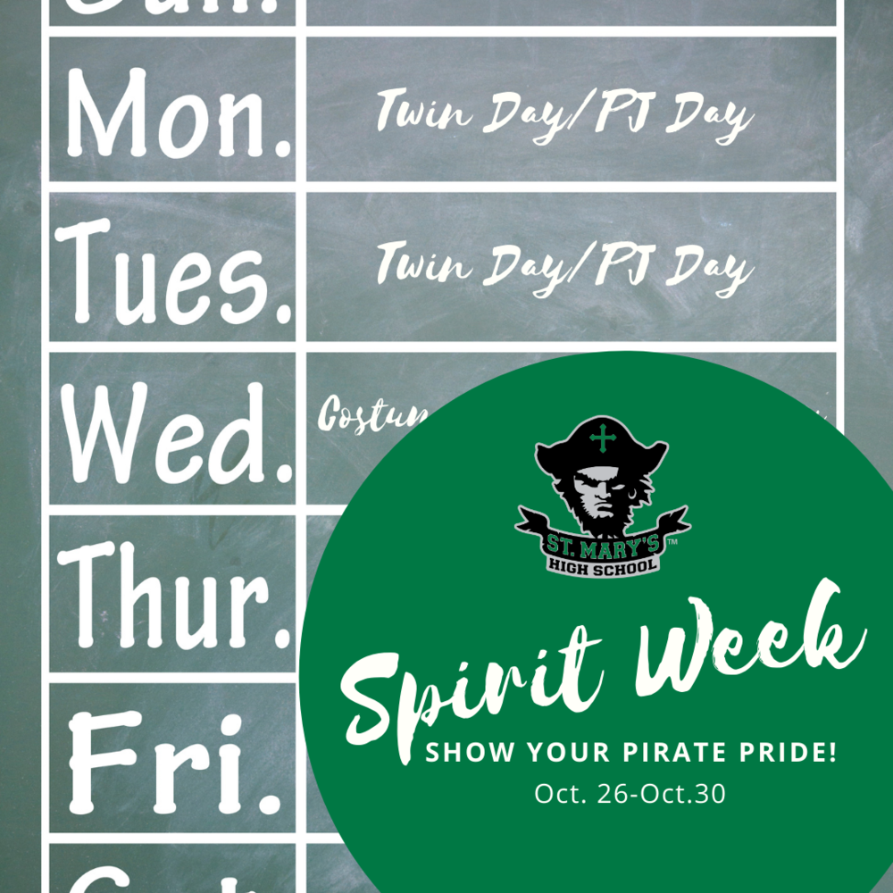 "Next Week is ""Spirit"" Week!"