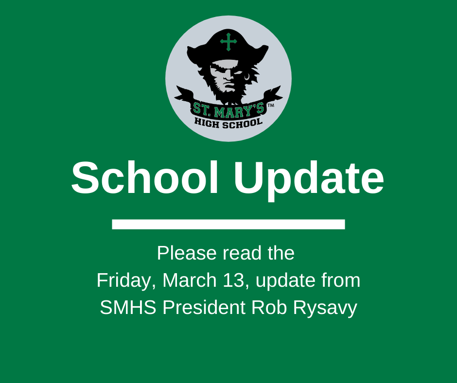 School UPDATE: Friday, March 13