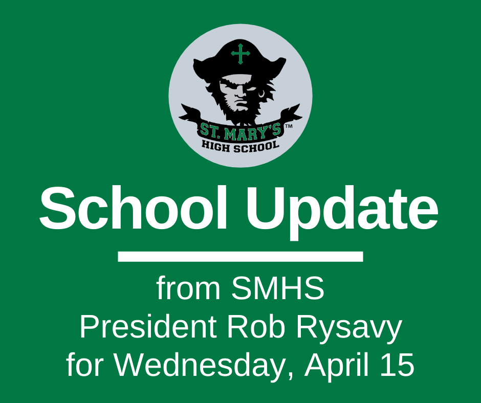 School UPDATE: Wednesday, April 15