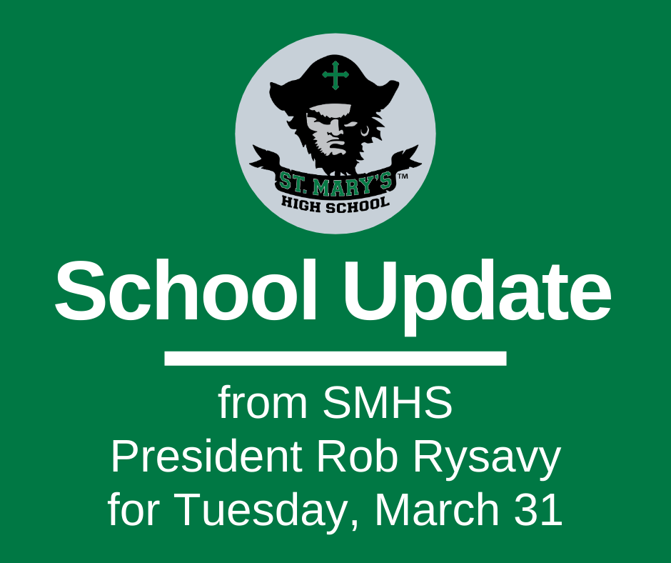 School UPDATE: Tuesday, March 31