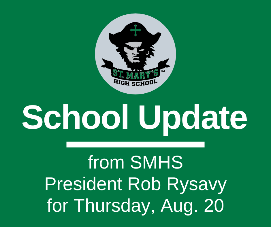 School UPDATE: Thursday, Aug. 20