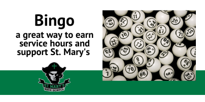 Earn Service Hours with Bingo