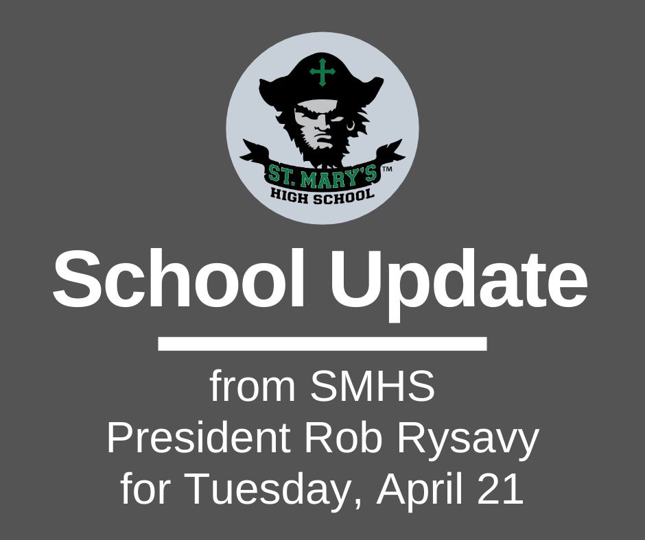 School UPDATE: Tuesday, April 21
