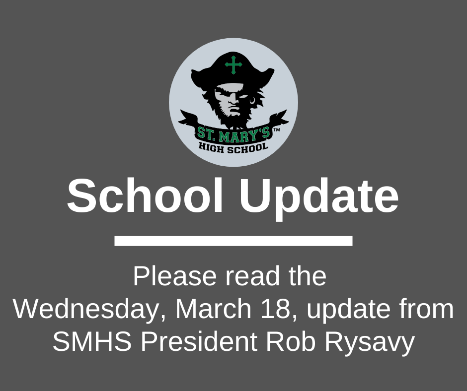 School UPDATE: Wednesday, March 18