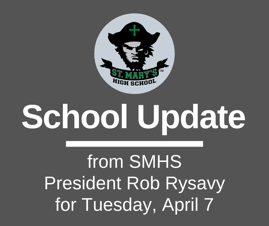 School UPDATE: Tuesday, April 7