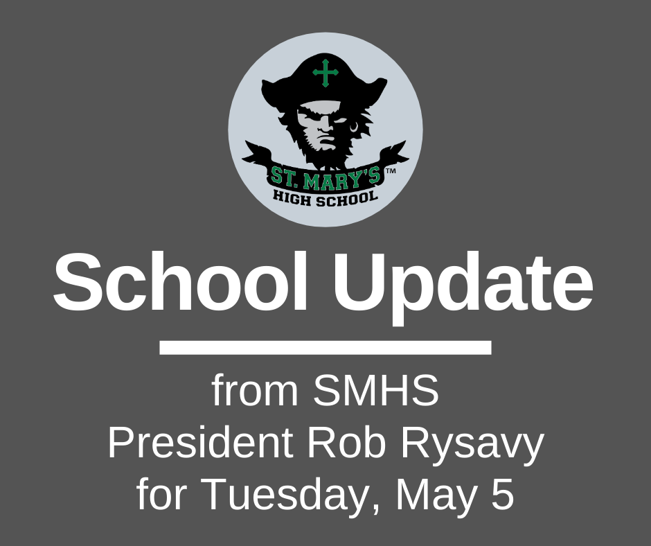 School UPDATE: Tuesday, May 5