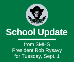 School UPDATE: Tuesday, Sept. 1