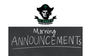 Announcements: Monday, Aug. 31