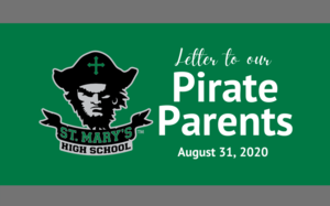 Parent Letter: Aug. 31, 2020