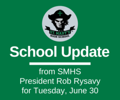 School UPDATE: Tuesday, June 30