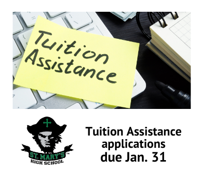 Sticky note with Tuition Assistance written on it
