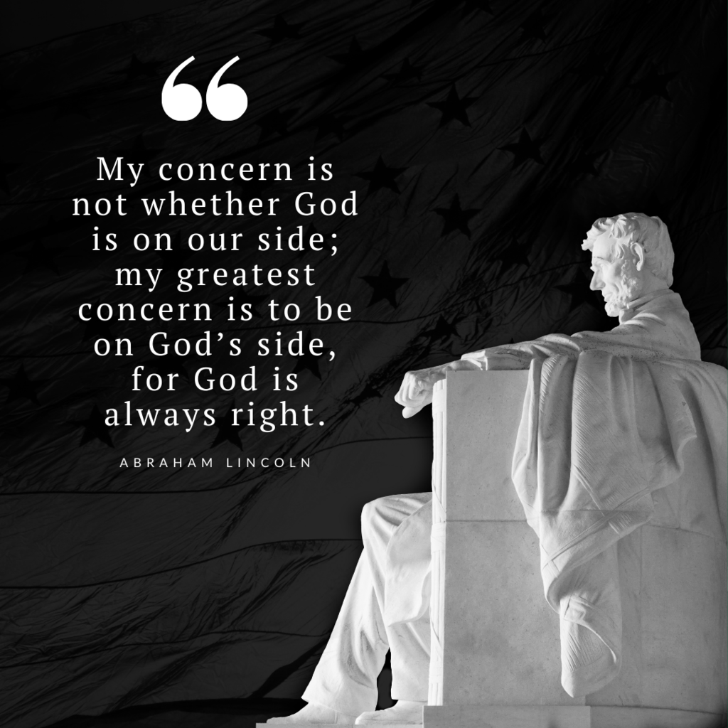 Lincoln Memorial with quote