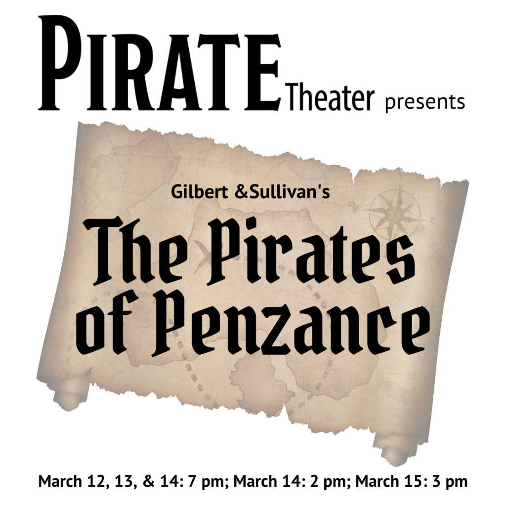 Musical poster for Pirates of Penzance